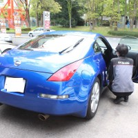 フェアレディZ Z33 ブルー GTNET 横浜 都筑 カフェ