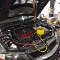 ランサーエボリューション9MR CT9A コンプレッサー ラジエター GTNET保証修理 コンプレッサーロック ラジエターパンク CT9Aコンプレッサーロック多発 ベルト切れ 焦げ臭い